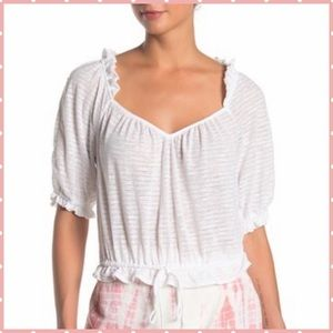 Free People Dorothy white top M